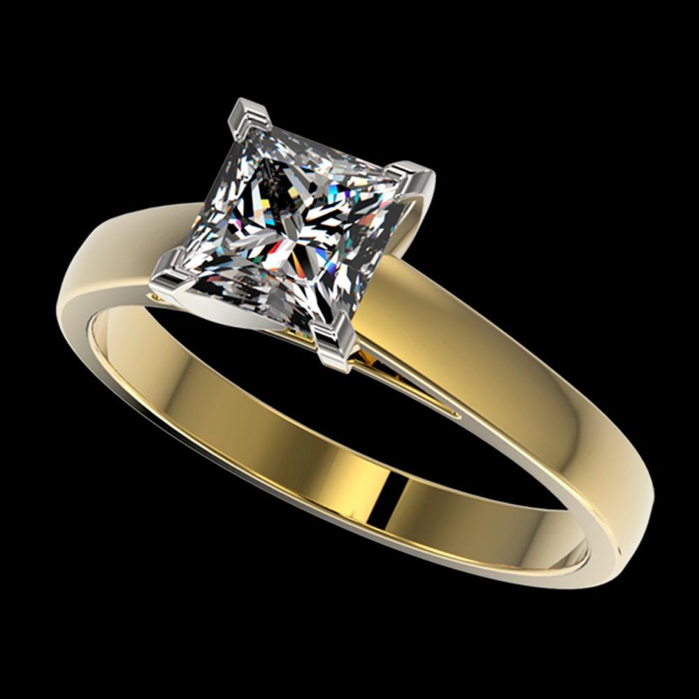 1.25 ctw VS/SI Princess Diamond Ring 10K Yellow Gold - REF-372A3V - SKU:33015
