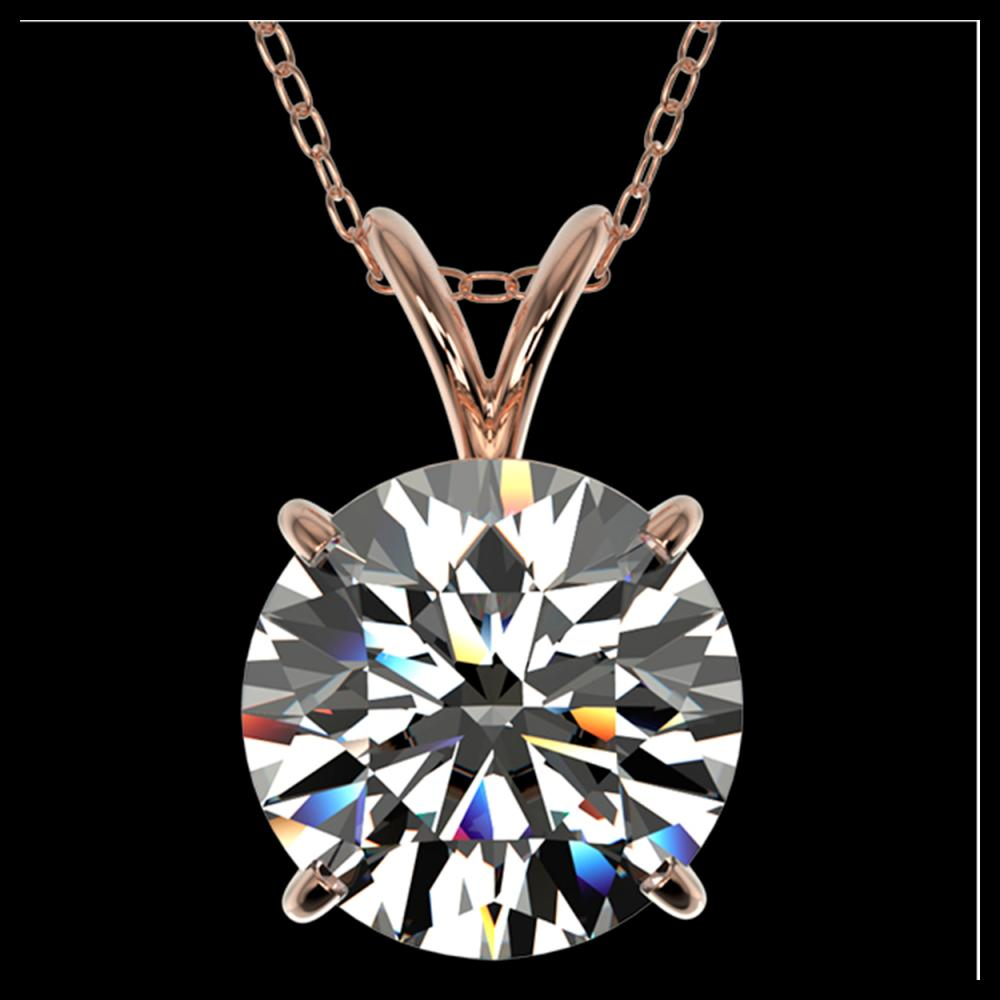 2.50 ctw H-SI/I Diamond Necklace 10K Rose Gold - REF-870W2H - SKU:33241