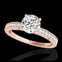 Lot 5070: 1.43 CTW H-SI/I Certified Diamond Solitaire Antique Ring 10K Rose Gold - REF-180T2M - 34613