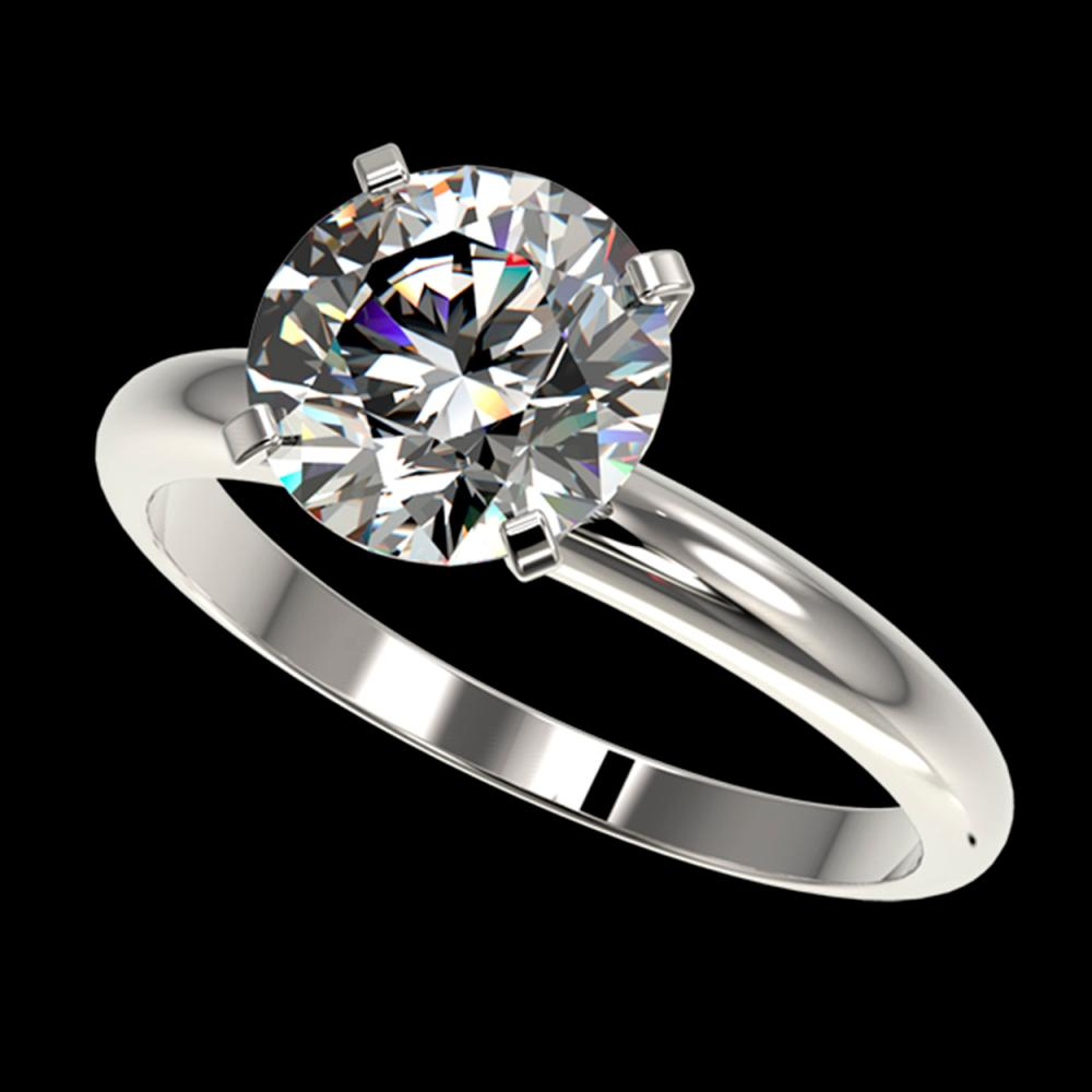 2.50 CTW Certified H-SI/I Quality Diamond Solitaire Engagement Ring 10K White Gold - REF-870F2N - 32942