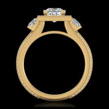 Lot 5115: 2.5 CTW Princess VS/SI Diamond Micro Pave 3 Stone Ring 18K Yellow Gold - REF-527X3T - 37198
