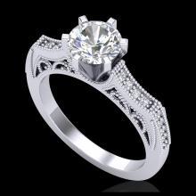 Lot 5133: 1.25 CTW VS/SI Diamond Solitaire Art Deco Ring 18K White Gold - REF-400F2N - 37073