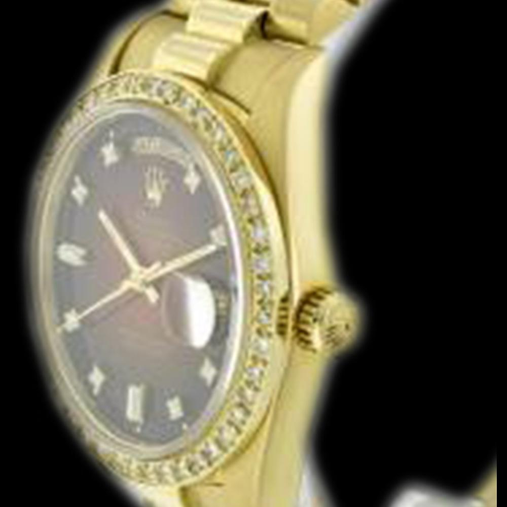 Lot 5007: Rolex Men's 18K Yellow President, QuickSet, Diamond Dial & Diamond Bezel - REF-1391W7H