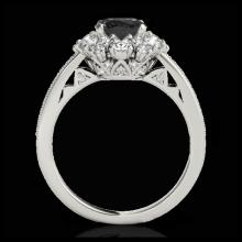 Lot 5011: 2.16 CTW Certified VS Black Diamond Solitaire Halo Ring 10K White Gold - REF-114M2H - 33986