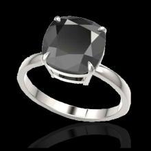 Lot 5023: 6 CTW Black VS/SI Diamond Designer Inspired Engagement Ring 18K White Gold - REF-155A6X - 22175