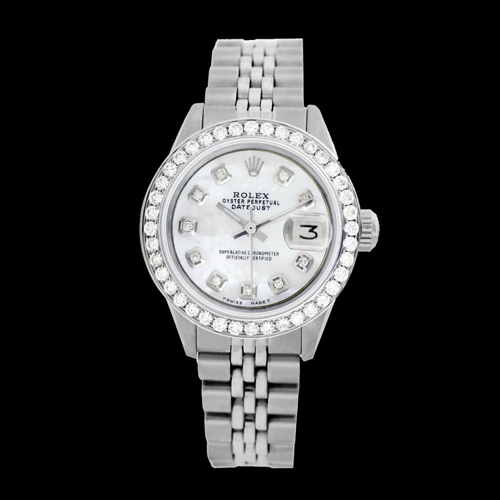 Lot 5043: Rolex Ladies Stainless Steel, Diamond Dial & Diamond Bezel, Sapphire Crystal - REF-426Y2X
