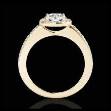 Lot 5059: 1.25 CTW H-SI/I Certified Diamond Solitaire Halo Ring 10K Yellow Gold - REF-161M8H - 33825