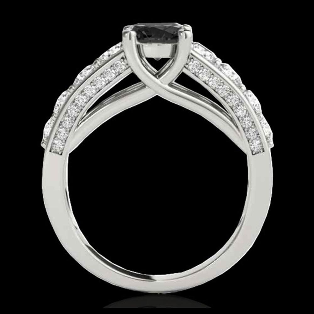 Lot 5086: 2.55 CTW Certified VS Black Diamond Solitaire Ring 10K White Gold - REF-149T3M - 35510