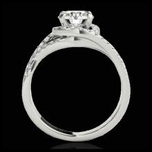 Lot 5100: 2 CTW H-SI/I Certified Diamond Solitaire Halo Ring 10K White Gold - REF-345X5T - 33839