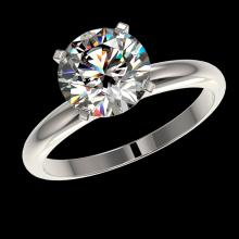 Lot 5104: 2.50 CTW Certified H-SI/I Quality Diamond Solitaire Engagement Ring 10K White Gold - REF-870F2N - 32942