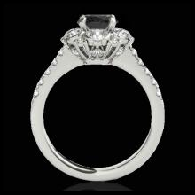 Lot 5128: 2.05 CTW Certified VS Black Diamond Solitaire Halo Ring 10K White Gold - REF-100X2T - 33912