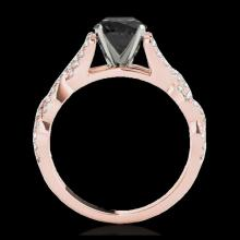 Lot 5137: 1.5 CTW Certified VS Black Diamond Solitaire Ring 10K Rose Gold - REF-78H4A - 35218