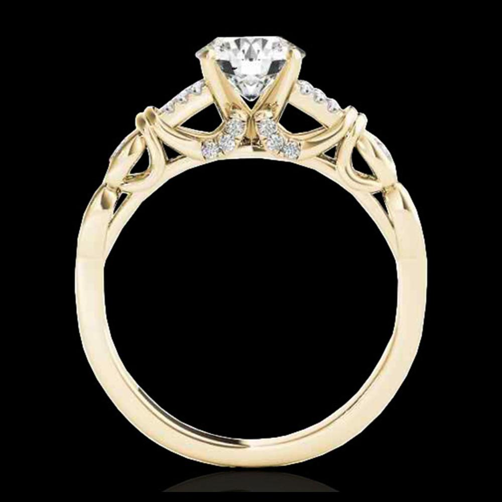 Lot 5147: 1.2 CTW H-SI/I Certified Diamond Solitaire Ring 10K Yellow Gold - REF-209N3Y - 35252