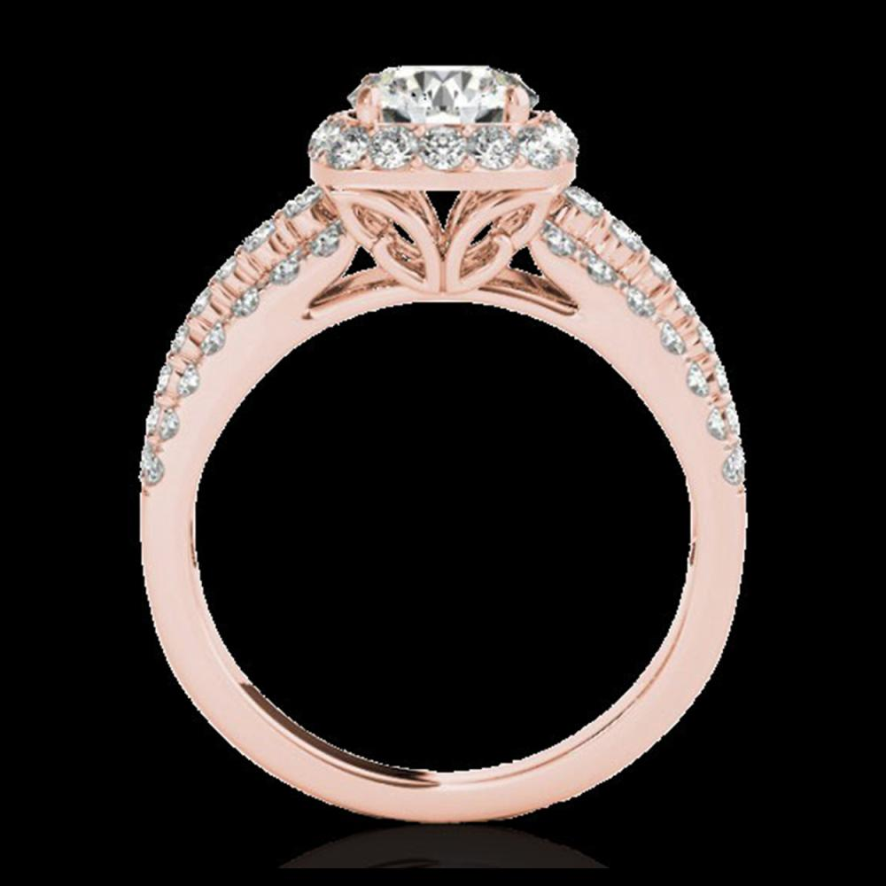 Lot 5153: 2.25 CTW H-SI/I Certified Diamond Solitaire Halo Ring 10K Rose Gold - REF-316H4A - 34008