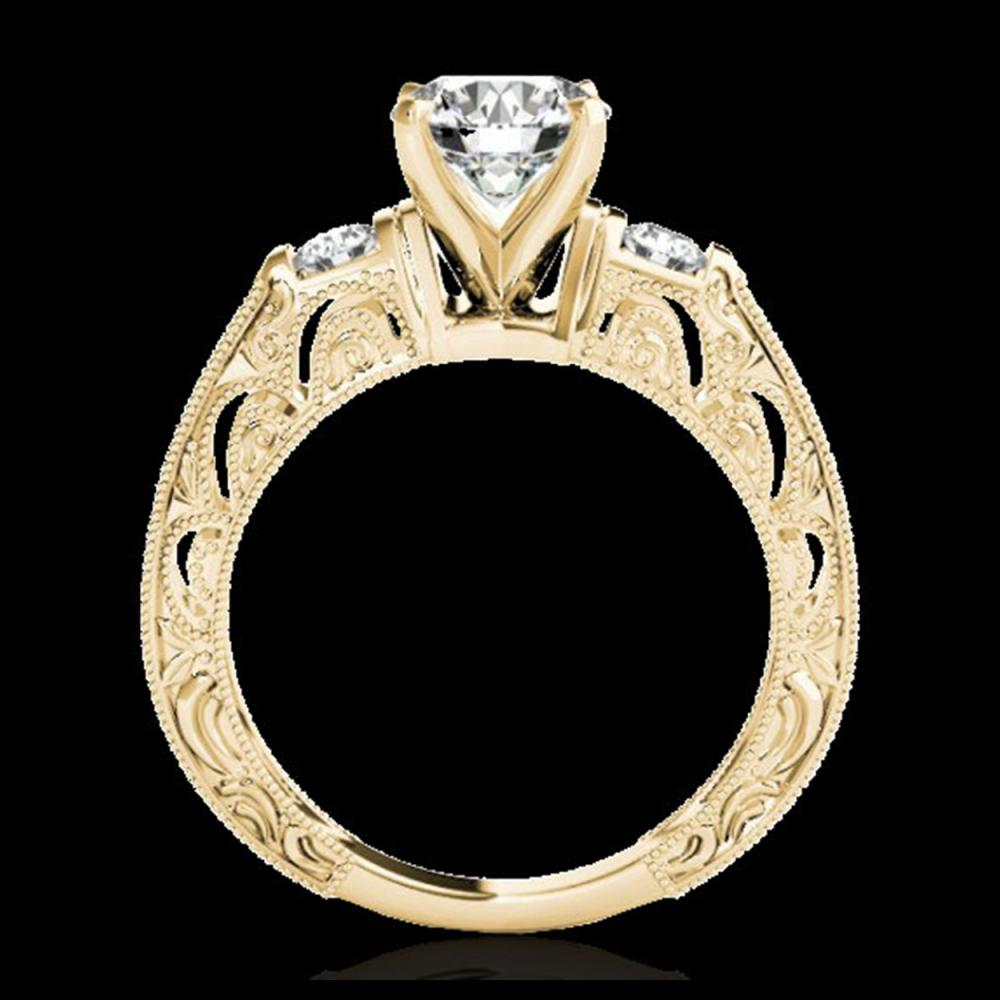 Lot 5165: 1.63 CTW H-SI/I Certified Diamond Solitaire Antique Ring 10K Yellow Gold - REF-218K2W - 34650