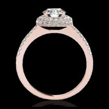 Lot 5185: 2.15 CTW H-SI/I Certified Diamond Solitaire Halo Ring 10K Rose Gold - REF-359A8X - 33680