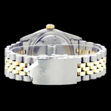 Lot 5025: Rolex Ladies Two Tone 14K Gold/SS, Diam Dial & Diam/Sapphire Bezel, Sapphire Crystal - REF-434F3M