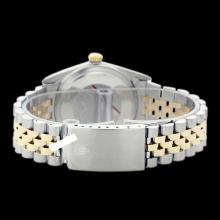 Lot 5096: Rolex Ladies Two Tone 14K Gold/SS, Diamond Dial with Fluted Bezel, Sapphire Crystal - REF-339H8W