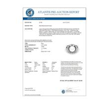 Lot 5068: 0.83 Ct Micro Pave VS/SI Diamond & Pearl Halo Ring 18K White Gold - REF-85M6H - 20706