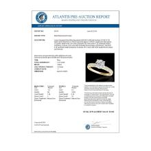 Lot 5118: 1.43 CTW H-SI/I Certified Diamond Solitaire Antique Ring 10K Yellow Gold - REF-180Y2K - 34614