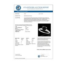 Lot 5130: 1.5 CTW Certified VS Black Diamond Solitaire Ring 10K White Gold - REF-67F8N - 34847