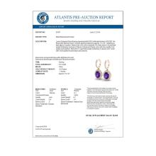 Lot 5164: 3.50 CTW Amethyst & Micro Pave VS/SI Diamond Earrings Halo 14K Rose Gold - REF-83F6N - 20307