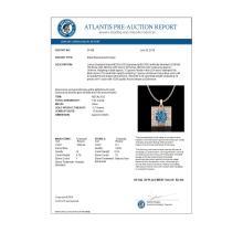 Lot 5170: 1.02 CTW Fancy Intense Blue Diamond Solitaire Art Deco Necklace 18K Rose Gold - REF-125H5A - 38168