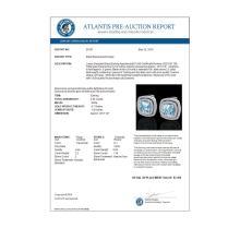 Lot 5179: 4.05 CTW Sky Blue Topaz & Micro VS/SI Diamond Halo Earrings 18K White Gold - REF-104X4T - 20157