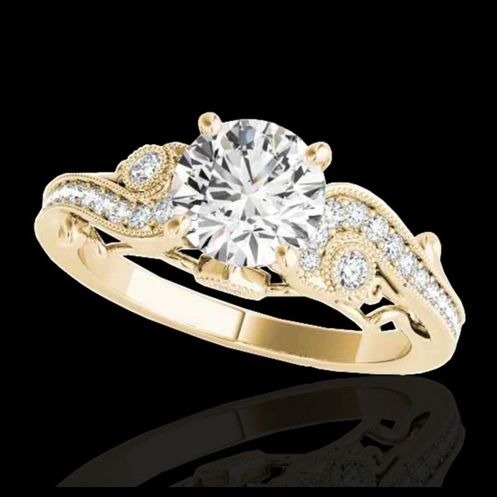 1.25 ctw H-SI/I Diamond Solitaire Ring 10K Yellow Gold - REF-154F3N - SKU:34794