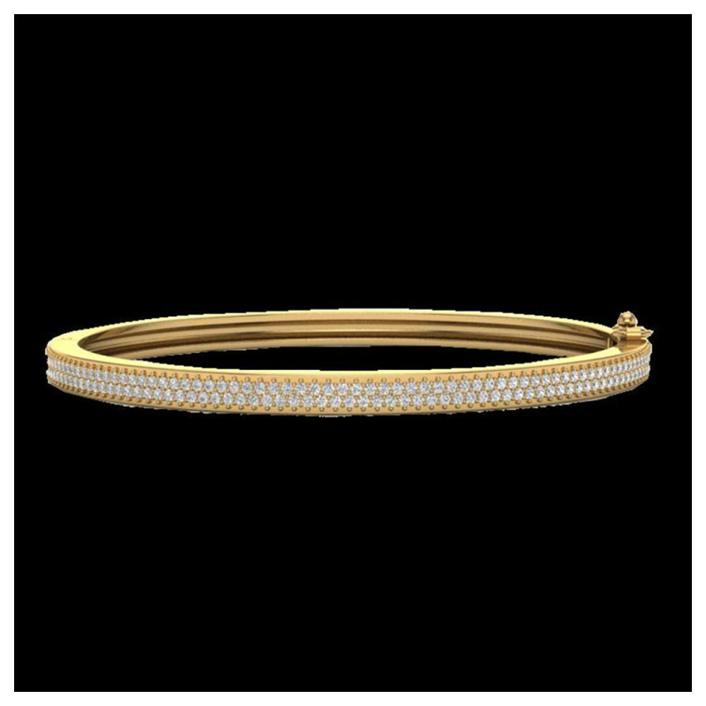1.50 ctw Diamond Bangel Bracelet 14K Yellow Gold - REF-176X2R - SKU:20035