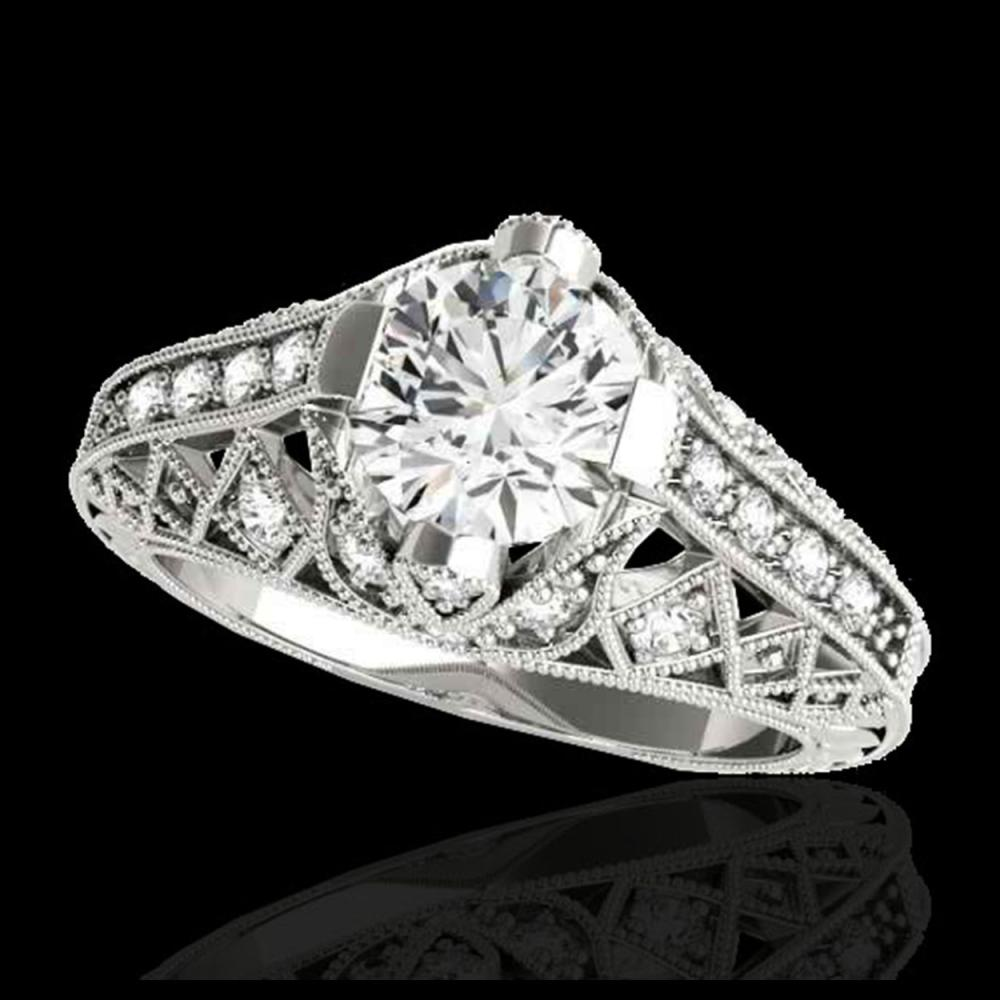 1.25 ctw H-SI/I Diamond Solitaire Ring 10K White Gold - REF-155A5V - SKU:34684