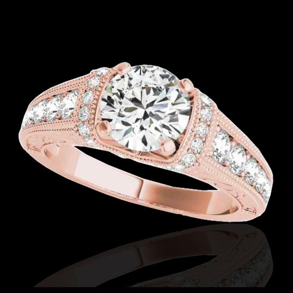 1.50 ctw H-SI/I Diamond Solitaire Ring 10K Rose Gold - REF-211Y4X - SKU:34775