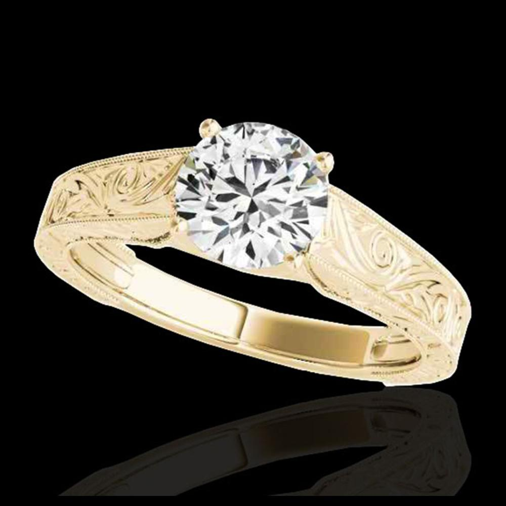 1.50 ctw H-SI/I Diamond Solitaire Ring 10K Yellow Gold - REF-245Y7X - SKU:35193