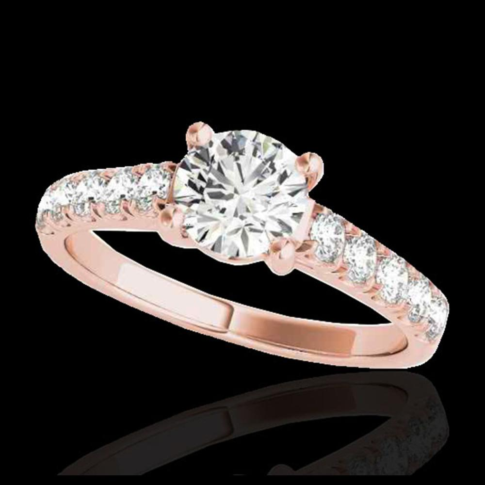 1.55 ctw H-SI/I Diamond Solitaire Ring 10K Rose Gold - REF-155R5K - SKU:35490
