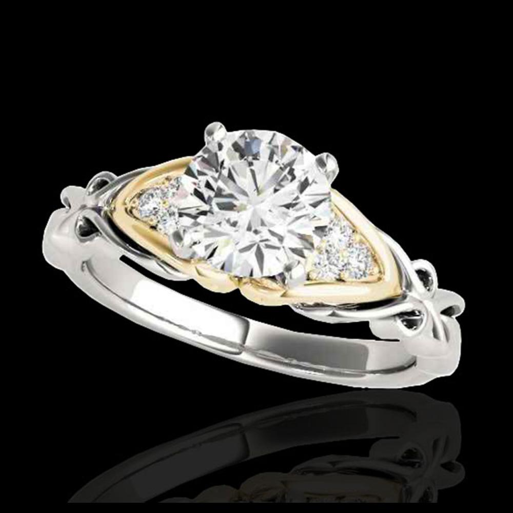 1.10 ctw H-SI/I Diamond Solitaire Ring 10K White & Yellow Gold - REF-177N3A - SKU:35202