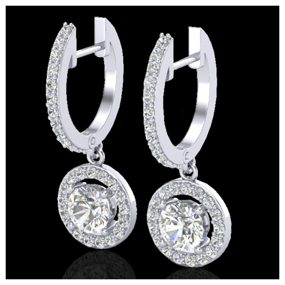 1.75 ctw VS/SI Diamond Earrings 18K White Gold - REF-219X8R - SKU:23253