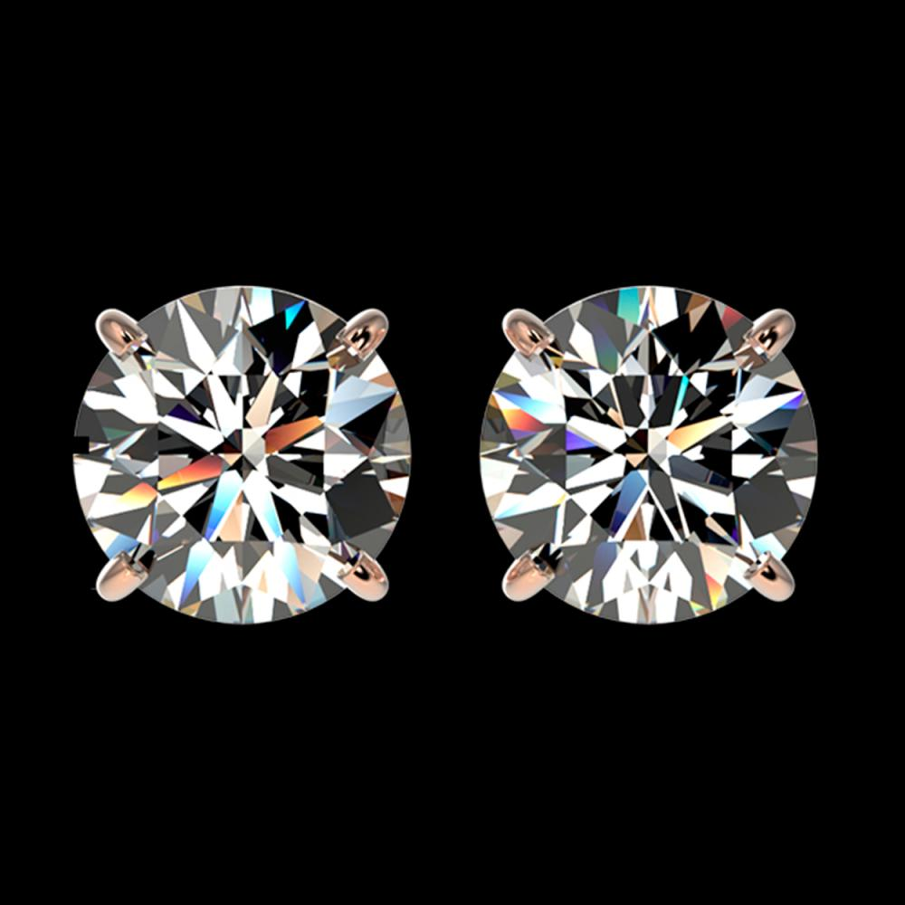 1.94 ctw H-SI/I Diamond Stud Earrings 10K Rose Gold - REF-367V5Y - SKU:36626