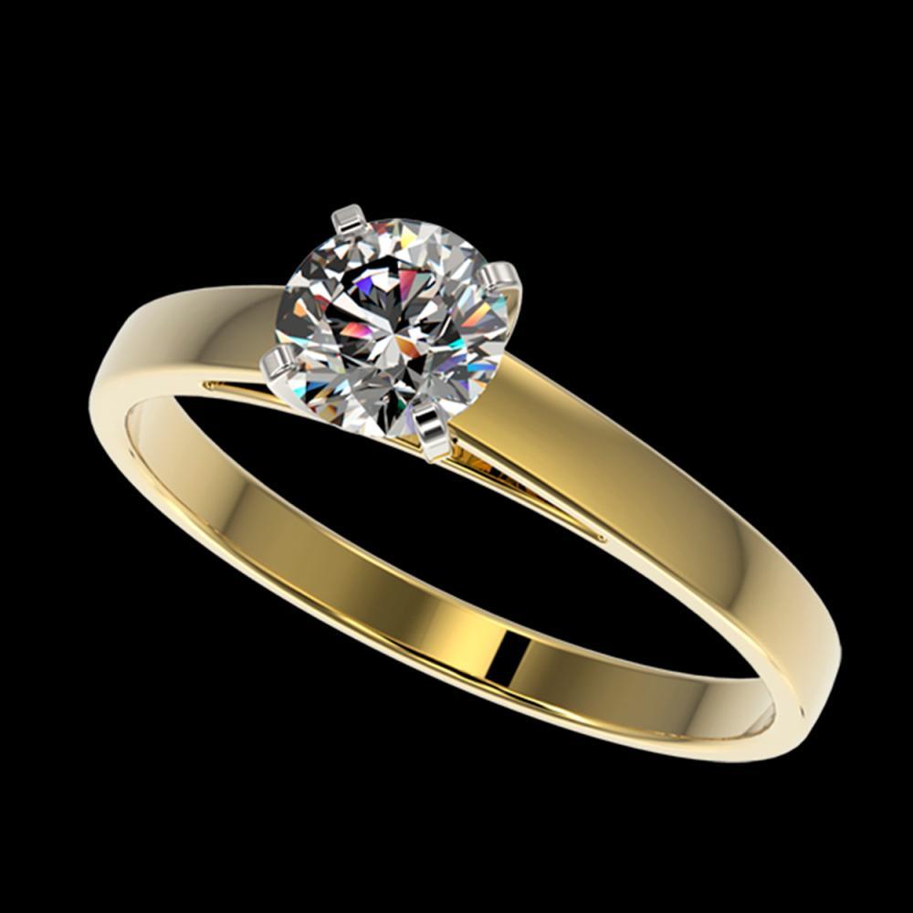 0.77 ctw H-SI/I Diamond Ring 10K Yellow Gold - REF-97M5F - SKU:36481