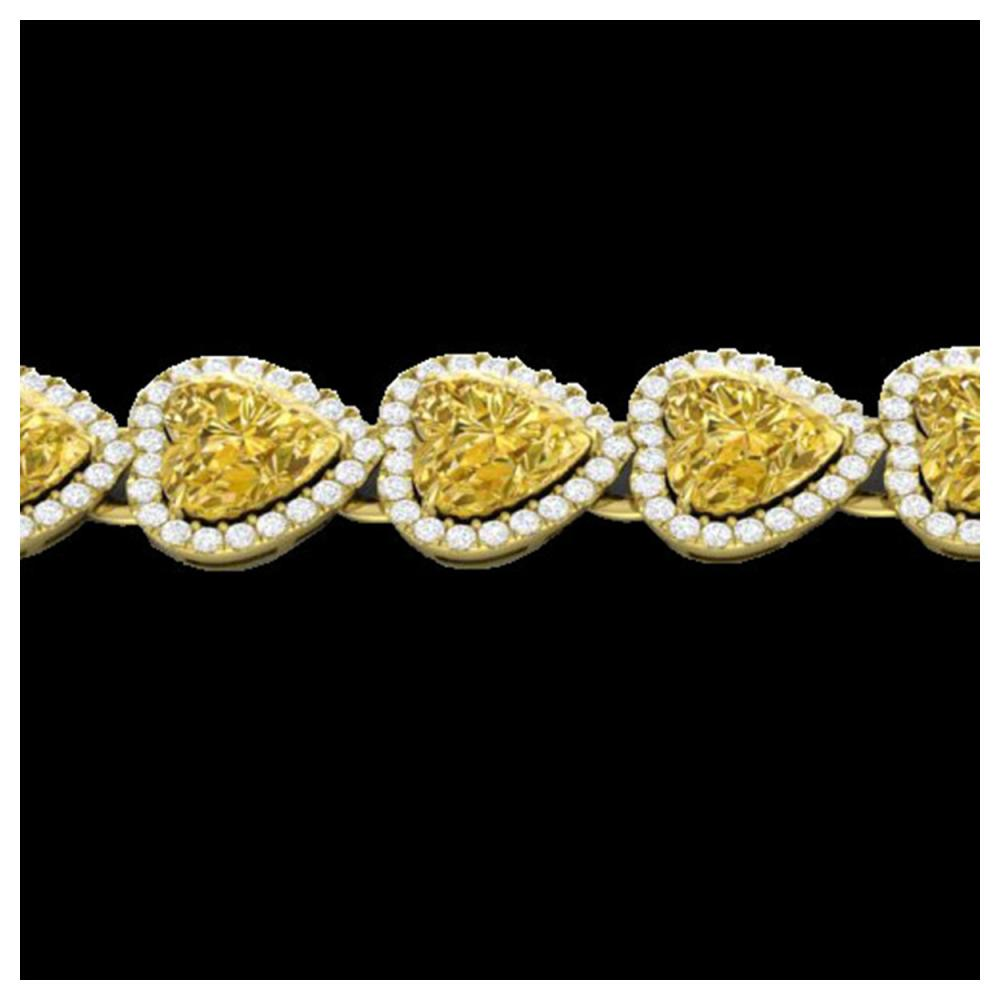 23 ctw Citrine & Bracelet Heart Halo 14K Yellow Gold - REF-415A5V - SKU:22614