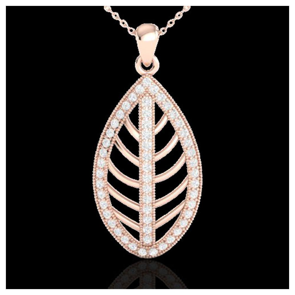 1 ctw VS/SI Diamond Necklace 14K Rose Gold - REF-84Y7X - SKU:21545