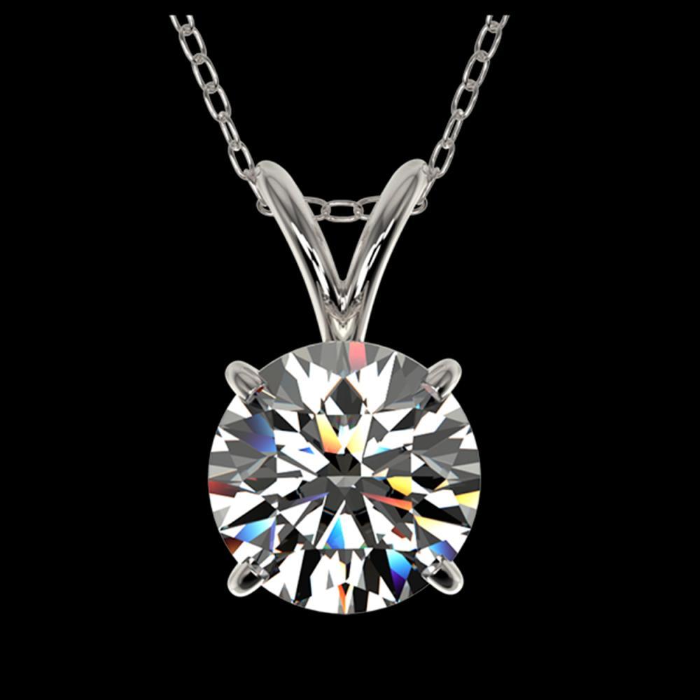 1.29 ctw H-SI/I Diamond Necklace 10K White Gold - REF-270N2A - SKU:36779