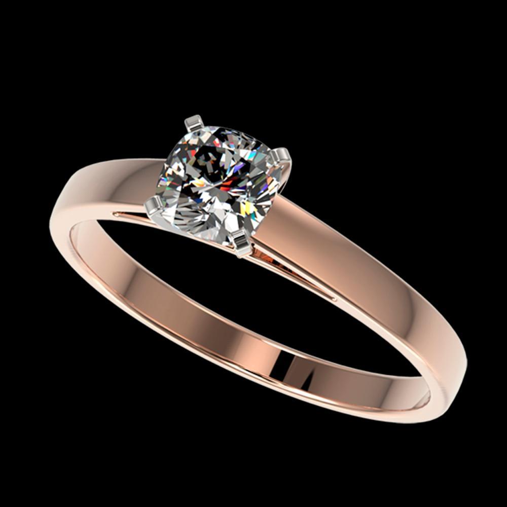0.50 ctw VS/SI Cushion Cut Diamond Ring 10K Rose Gold - REF-73H5M - SKU:32969