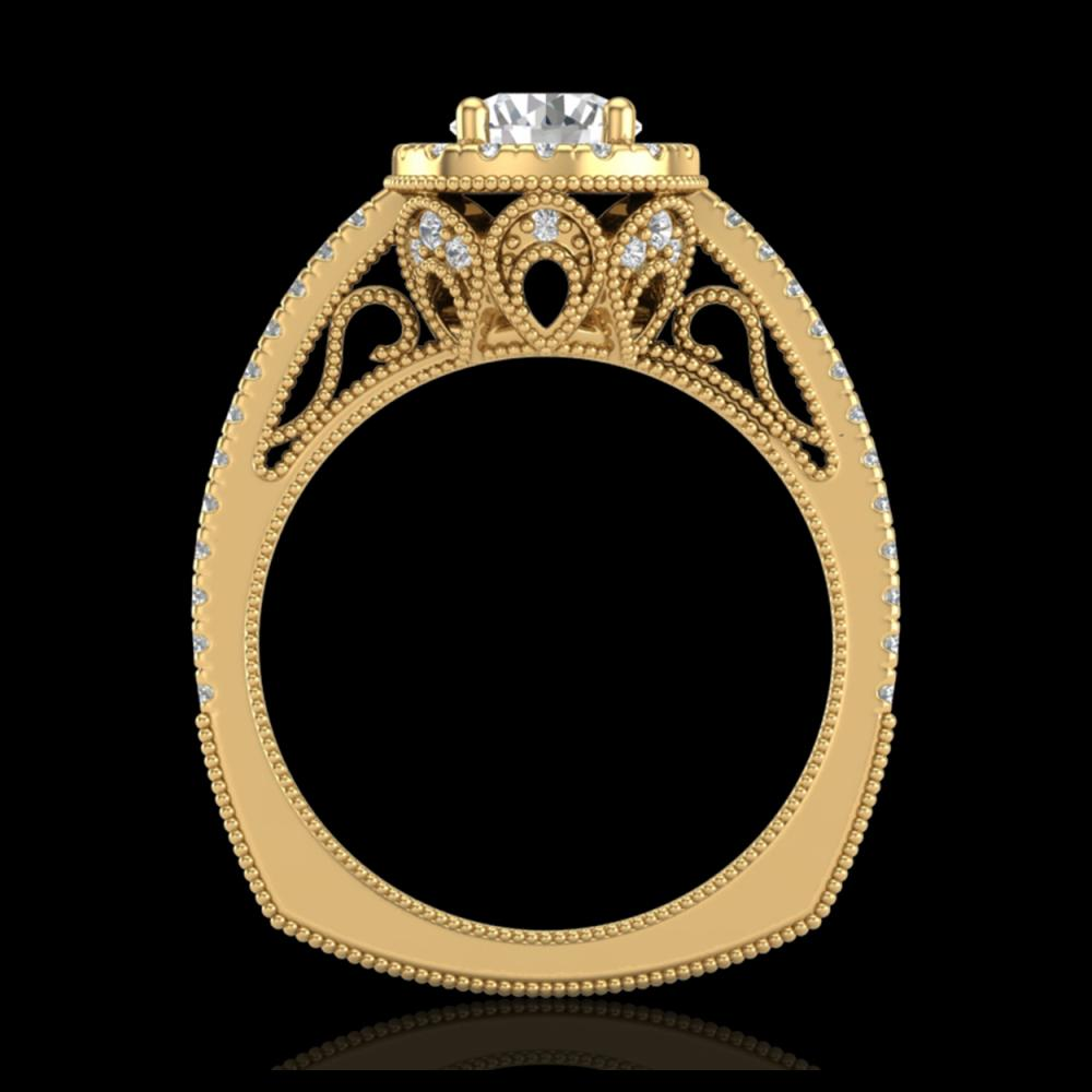 1.55 ctw VS/SI Diamond Solitaire Art Deco Ring 18K Yellow Gold - REF-263V6Y - SKU:37117