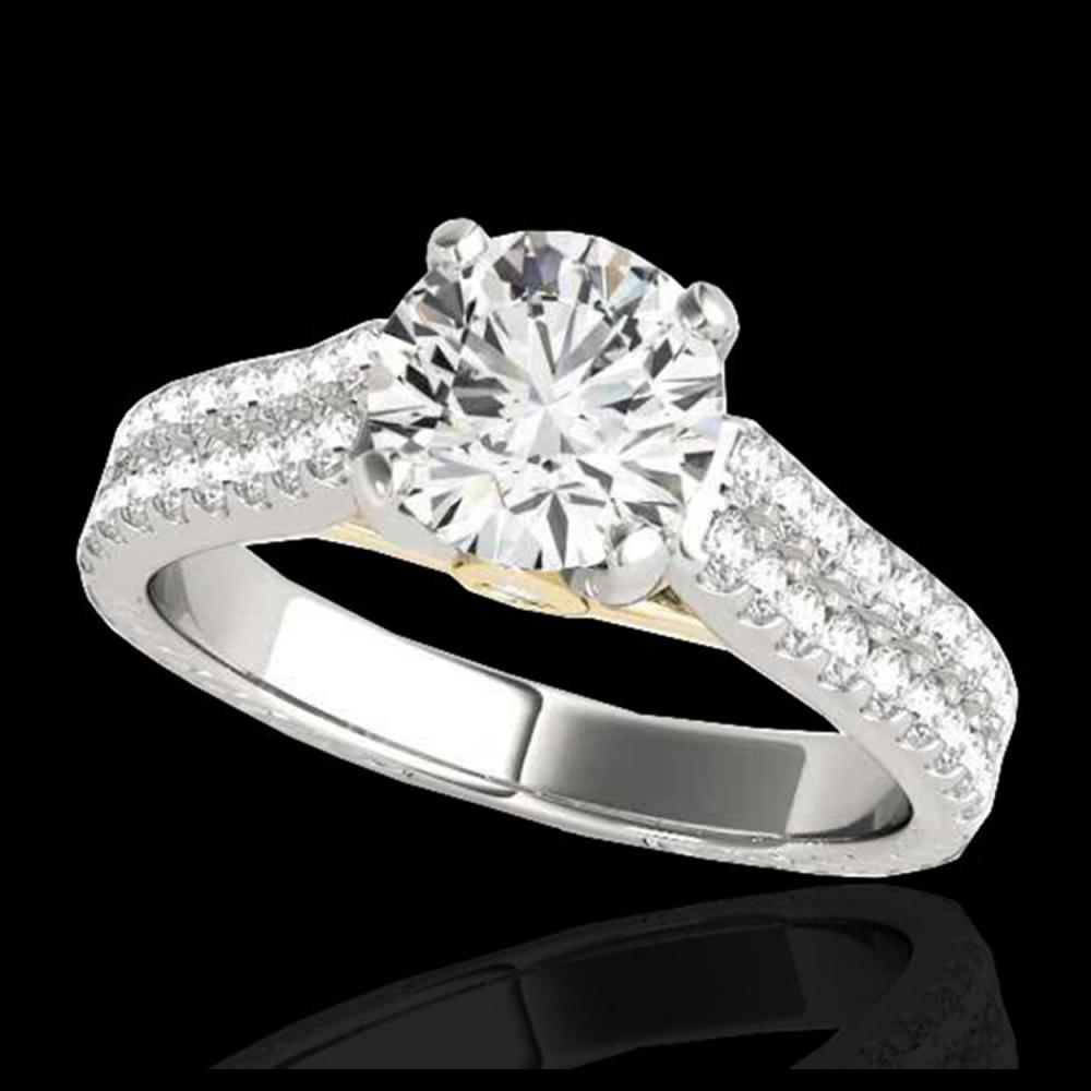 1.61 ctw H-SI/I Diamond Ring 10K White & Yellow Gold - REF-135K2W - SKU:35459