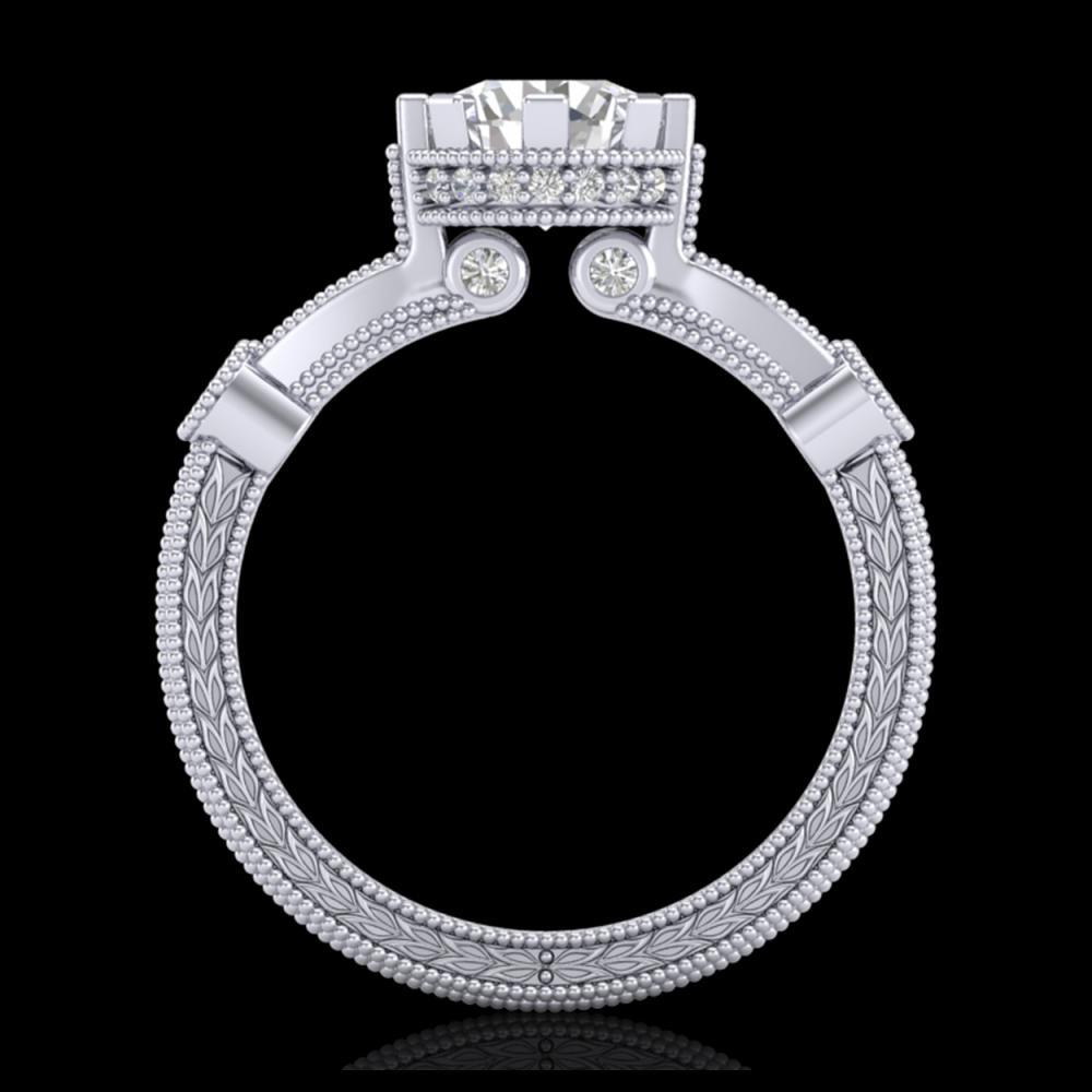 1.71 ctw VS/SI Diamond Art Deco Ring 18K White Gold - REF-442K5W - SKU:37061