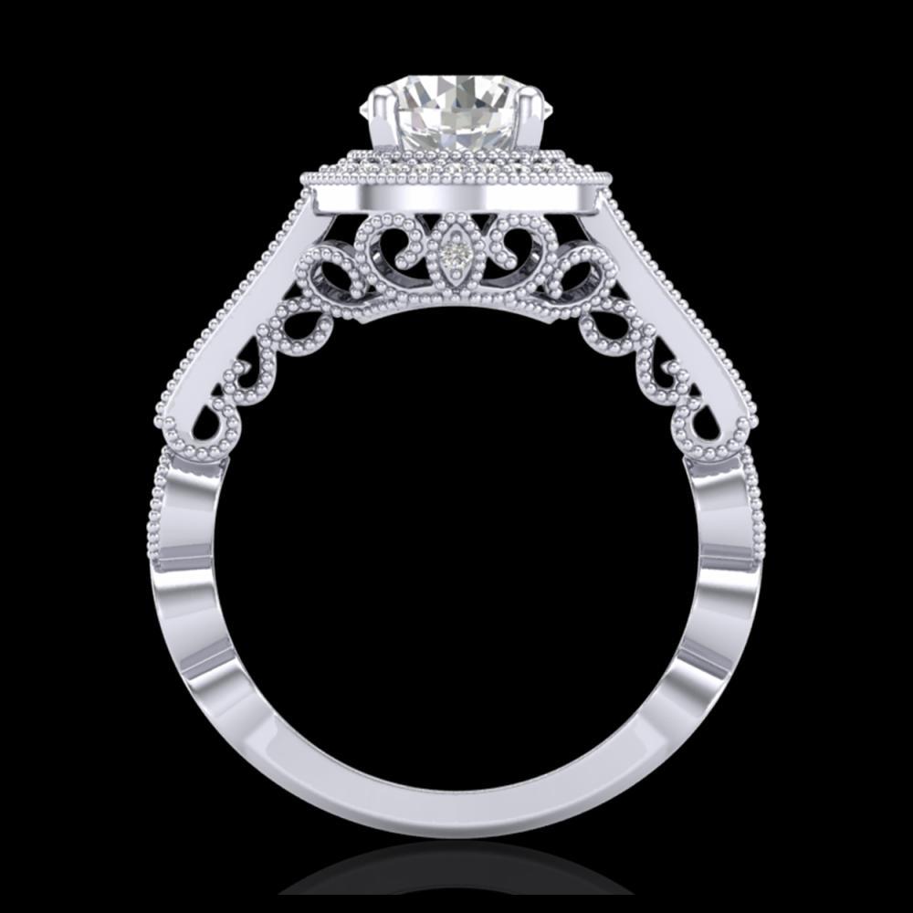 1.91 ctw VS/SI Diamond Art Deco Ring 18K White Gold - REF-543W6H - SKU:36974
