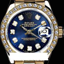 Rolex Men's 18K Yellow President, QuickSet, Diamond Dial & Diamond Bezel - REF#1243T6Y