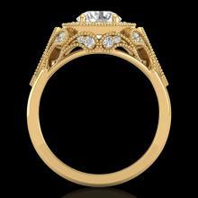 1.75 CTW VS/SI Diamond Solitaire Art Deco Ring 18K Gold - 37321-REF-436V4F