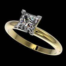 1.25 CTW Certified VS/SI Quality Princess Diamond Solitaire Ring Gold - 32918-REF-372W3M