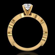 1.01 CTW VS/SI Diamond Solitaire Art Deco Ring 18K Gold - 37318-REF-218Z2K